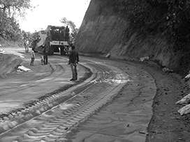 Evocrete - Construction of Road from Betasing to MellimWest-Garo Hills