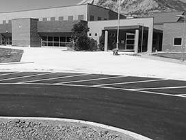 Evocrete - Grand Valley High School, access roads and parking lots